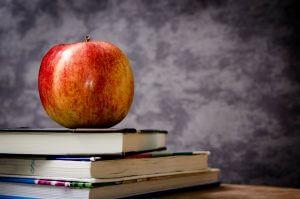 apple on books - field trips