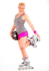 inline skates - stretching
